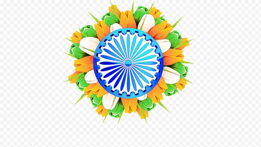 India Independence Day Flower Background - Republic PNG