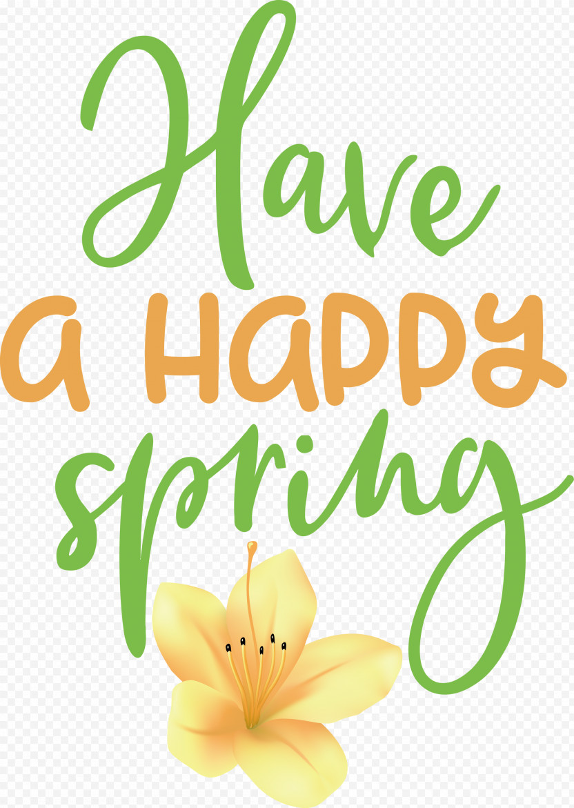 Spring Have A Happy Spring PNG