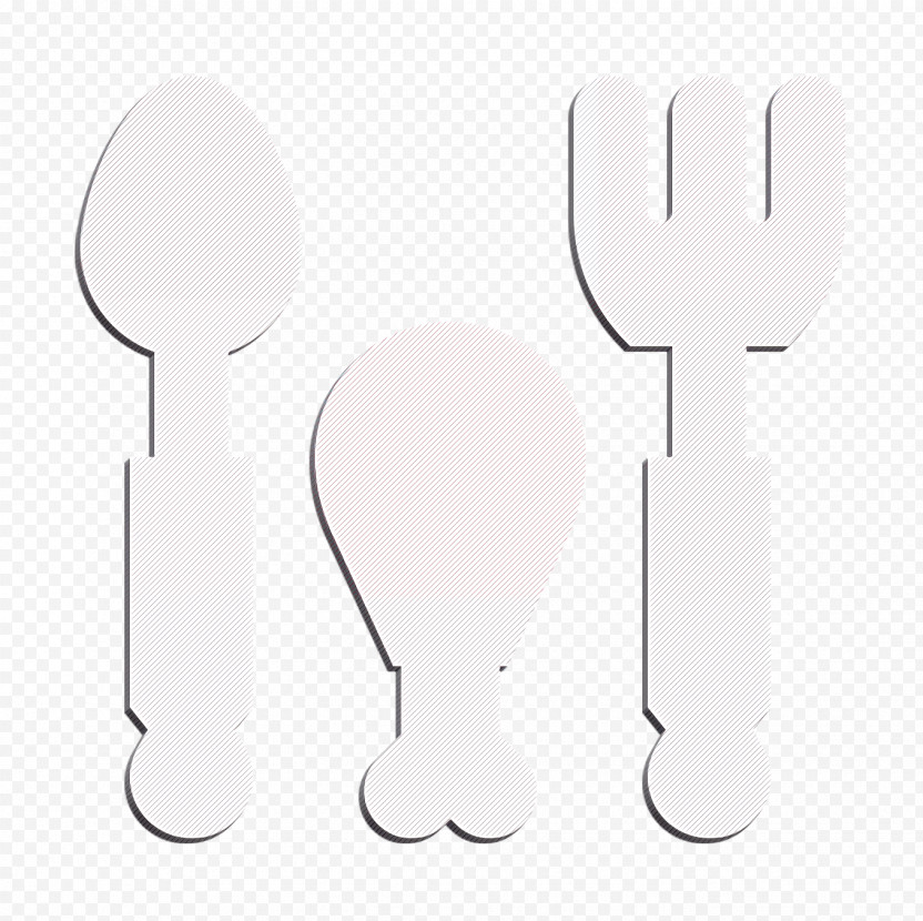 Fitness Icon Spoon Icon Chicken Leg Icon PNG