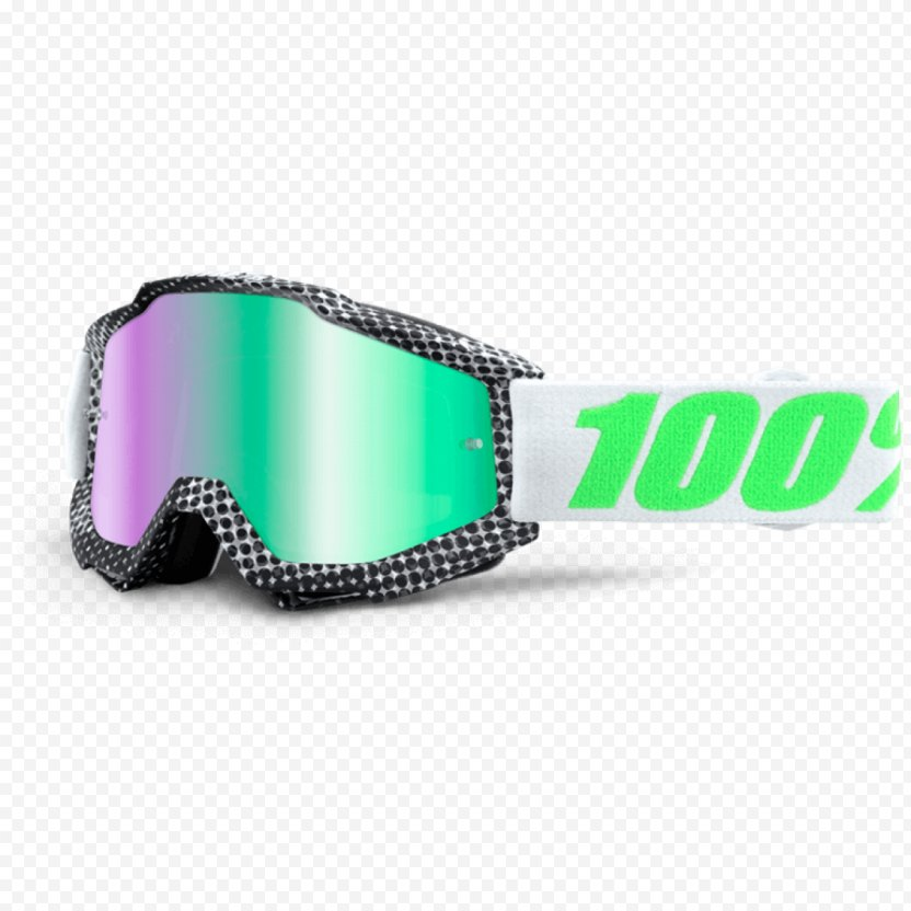 Lens Goggles Mirror Motorcycle Green - Eye PNG