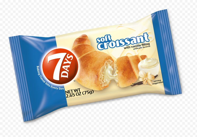Croissant Ice Cream Stuffing Pain Au Chocolat - Food PNG