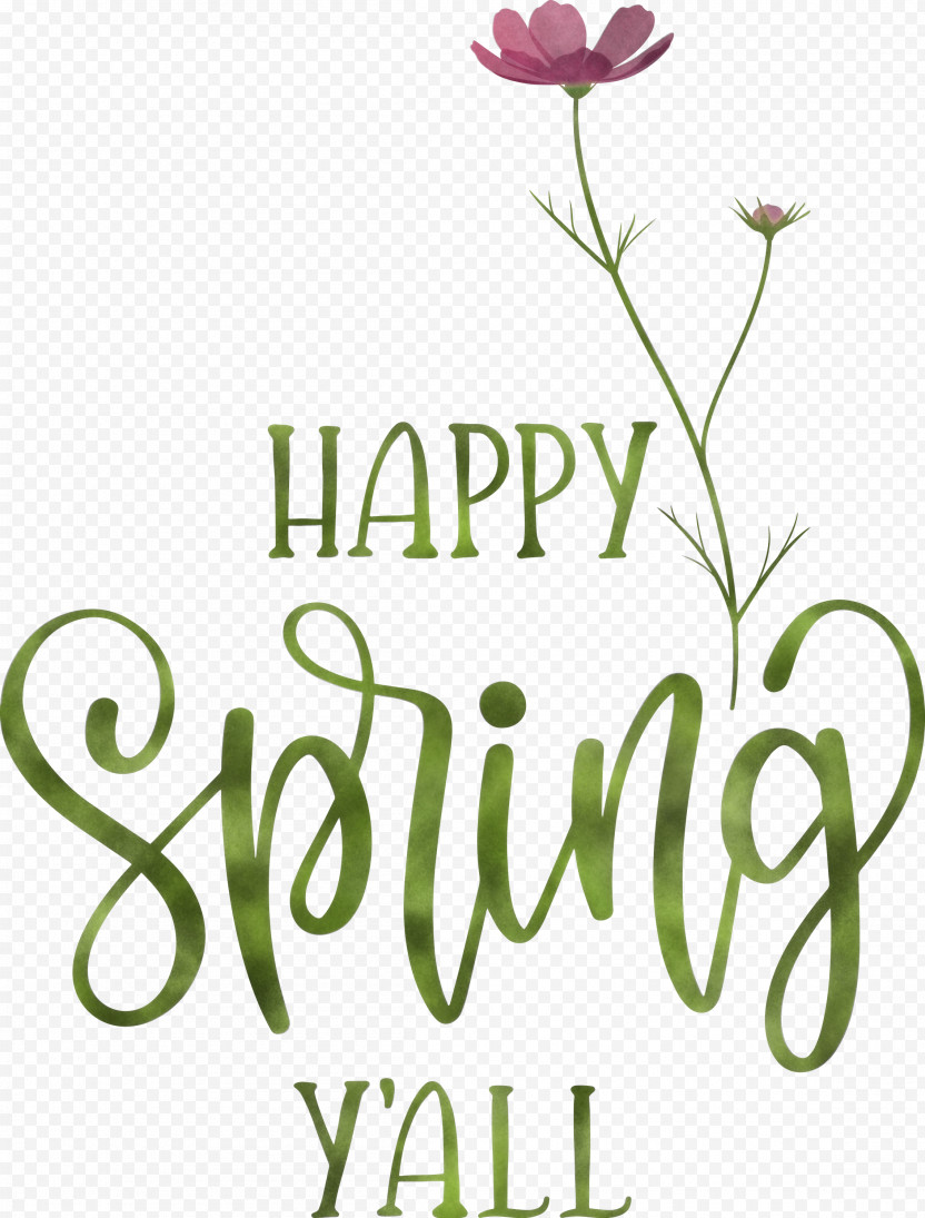 Happy Spring Spring PNG