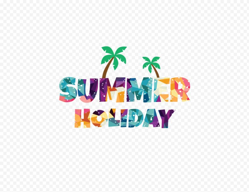 Summer Vacation Party Clip Art - Beach PNG