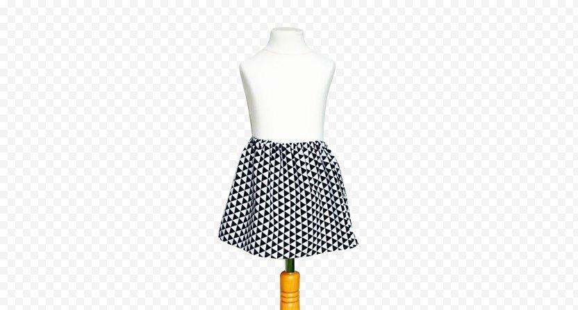 Polka Dot Skirt Sleeve Dress Pattern PNG