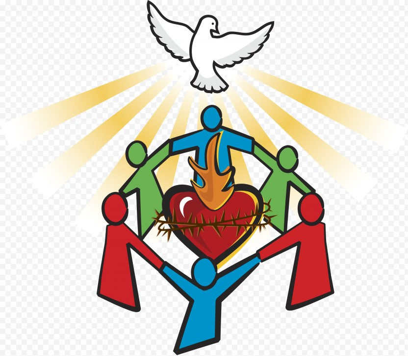 Sacred Heart Family Question - Frame PNG