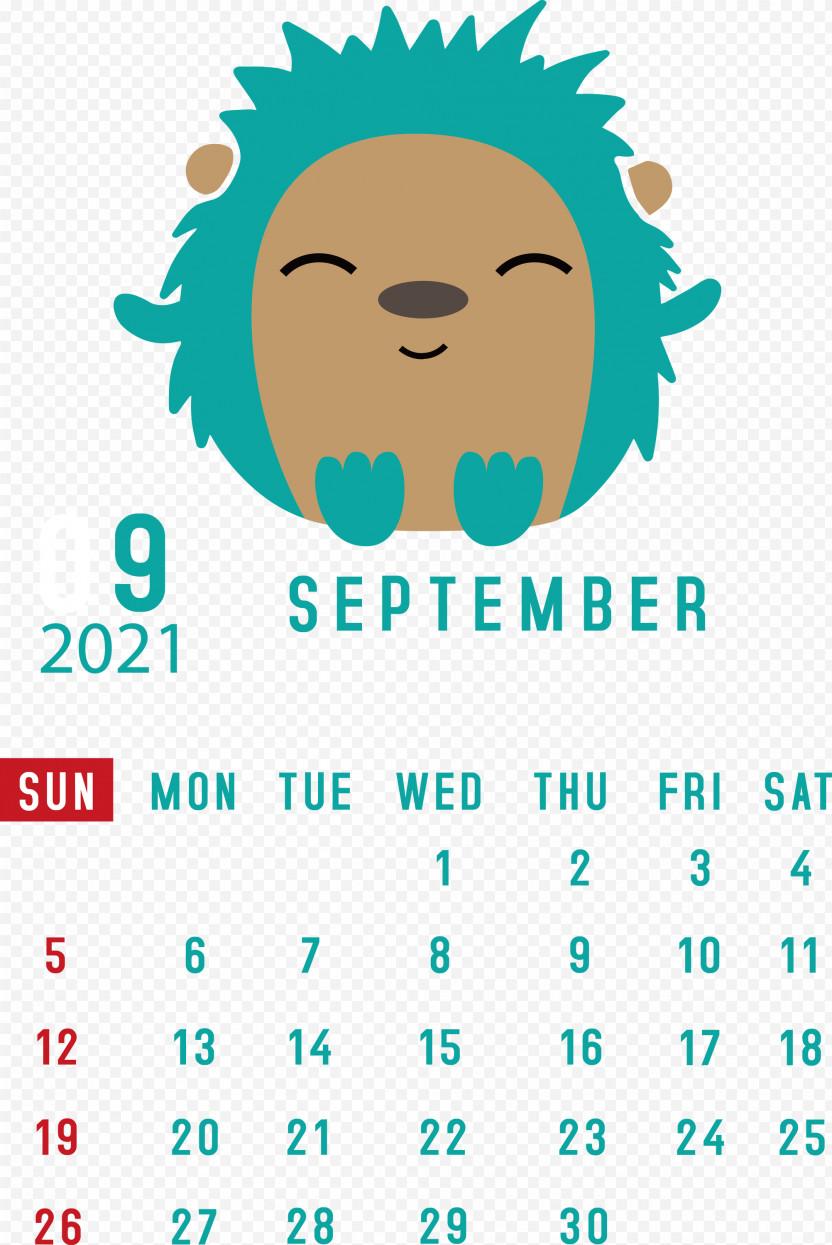 September 2021 Printable Calendar September 2021 Calendar PNG