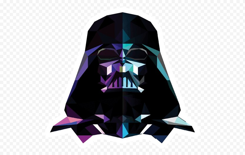 Darth Vader Sticker Paper Character - Substance Theory PNG