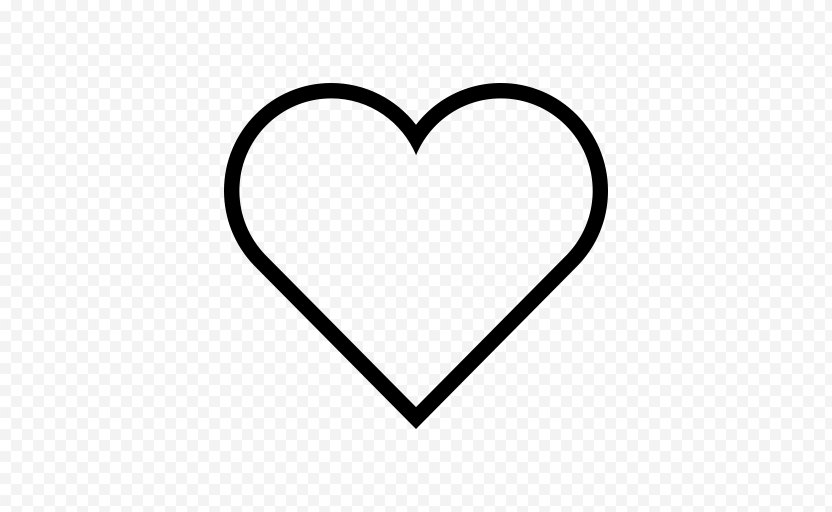Outline Heart Clip Art - Watercolor PNG