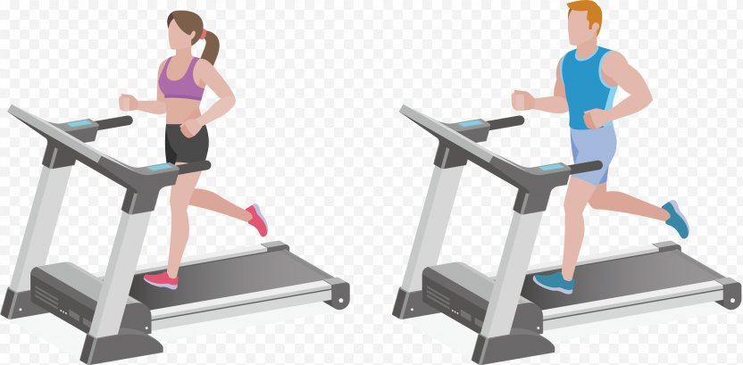 Fitness Centre Physical Exercise Machine Treadmill PNG