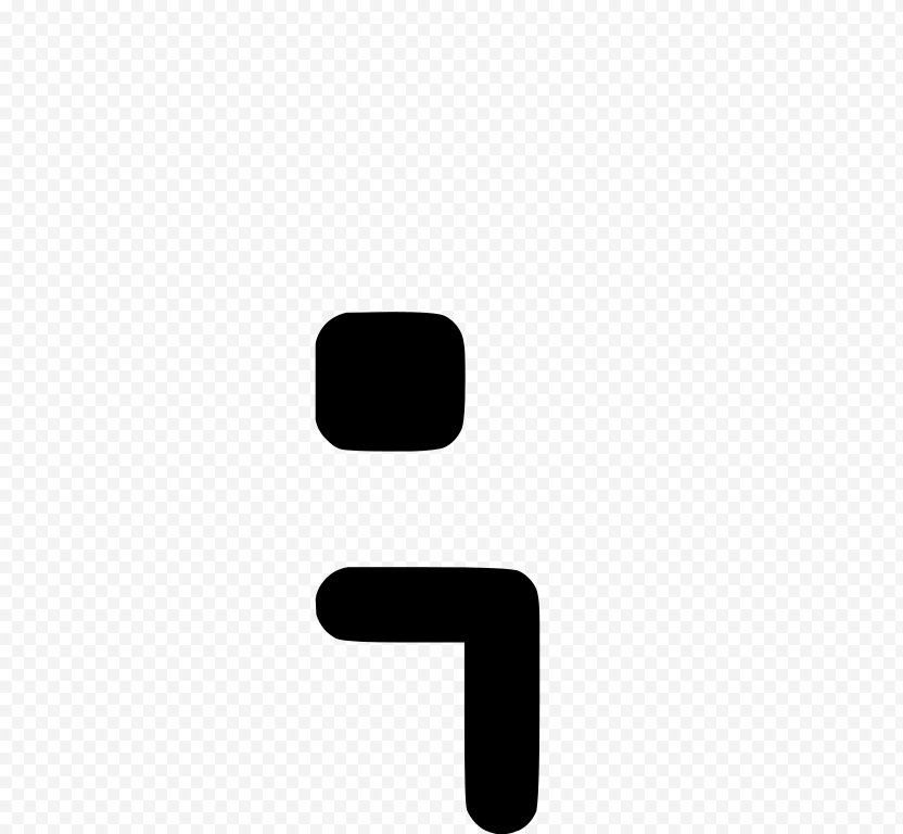 Semicolon Full Stop Punctuation Greater-than Sign - Colon PNG