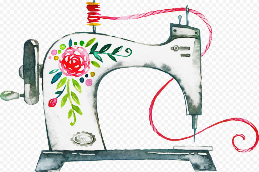 Sewing Machine Sewing Textile Machine Embroidery Quilting PNG