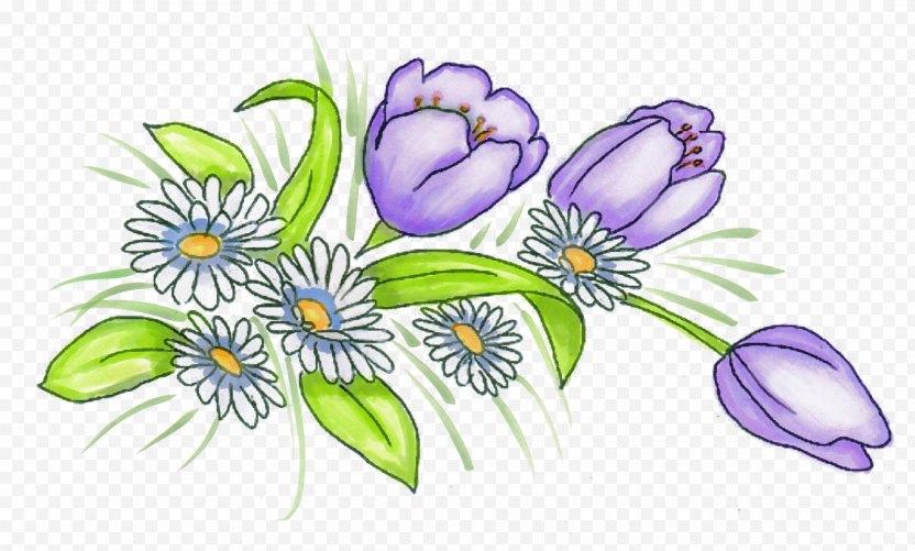 Tulip Floral Design Violet Flower Clip Art - Vase PNG
