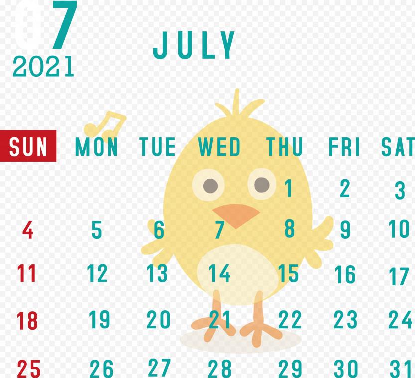 July 2021 Calendar July Calendar 2021 Calendar PNG
