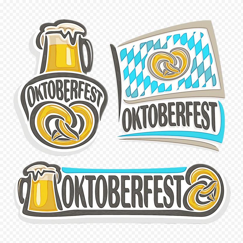 Oktoberfest Logo Pretzel Pint Beer Festival PNG