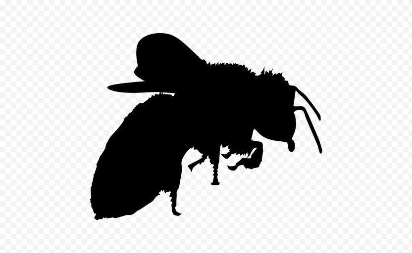 Bee Silhouette Clip Art - Insect PNG