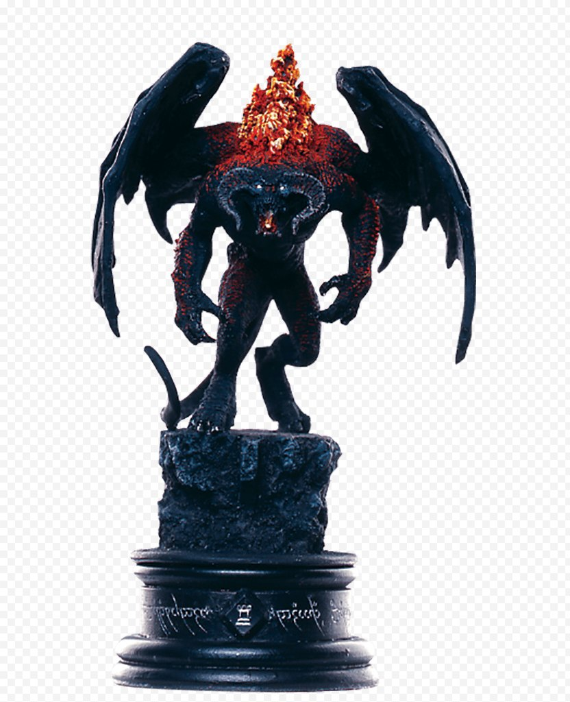 Chess Piece Meriadoc Brandybuck The Lord Of Rings Balrog - Statue PNG