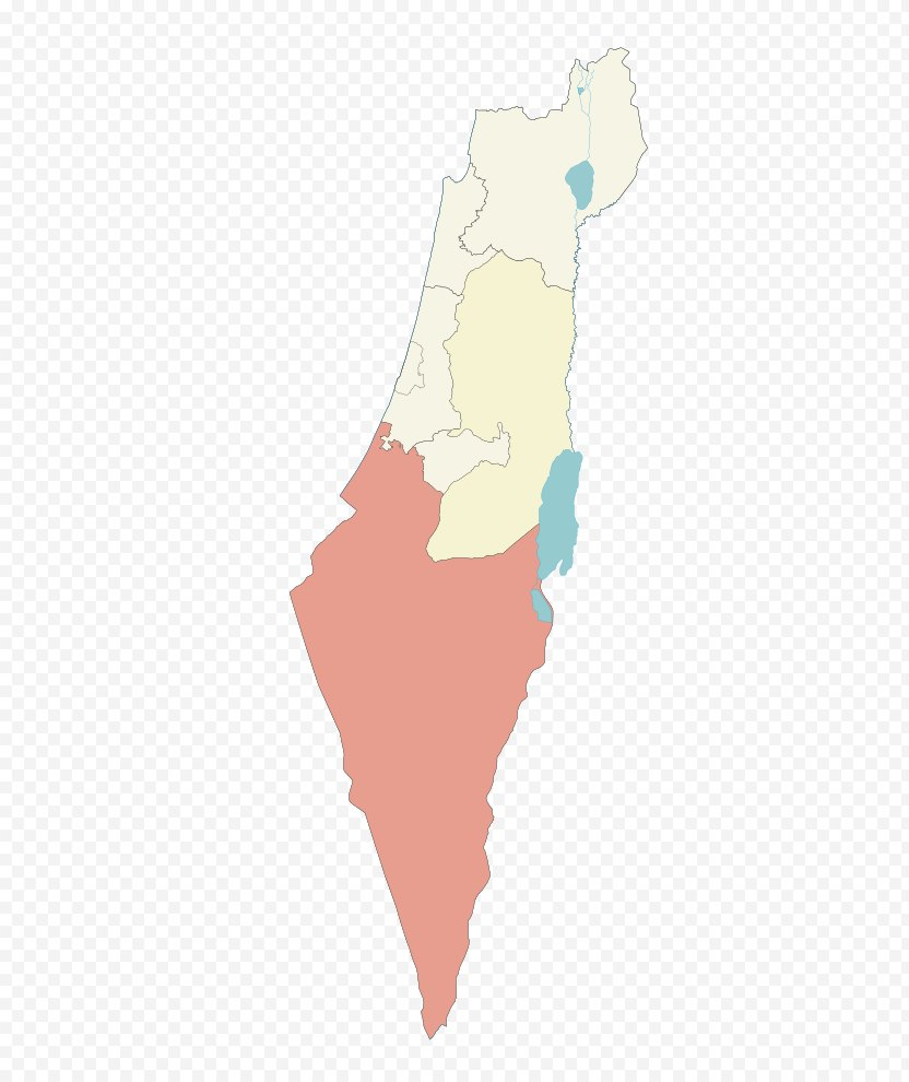 Israel Map PNG