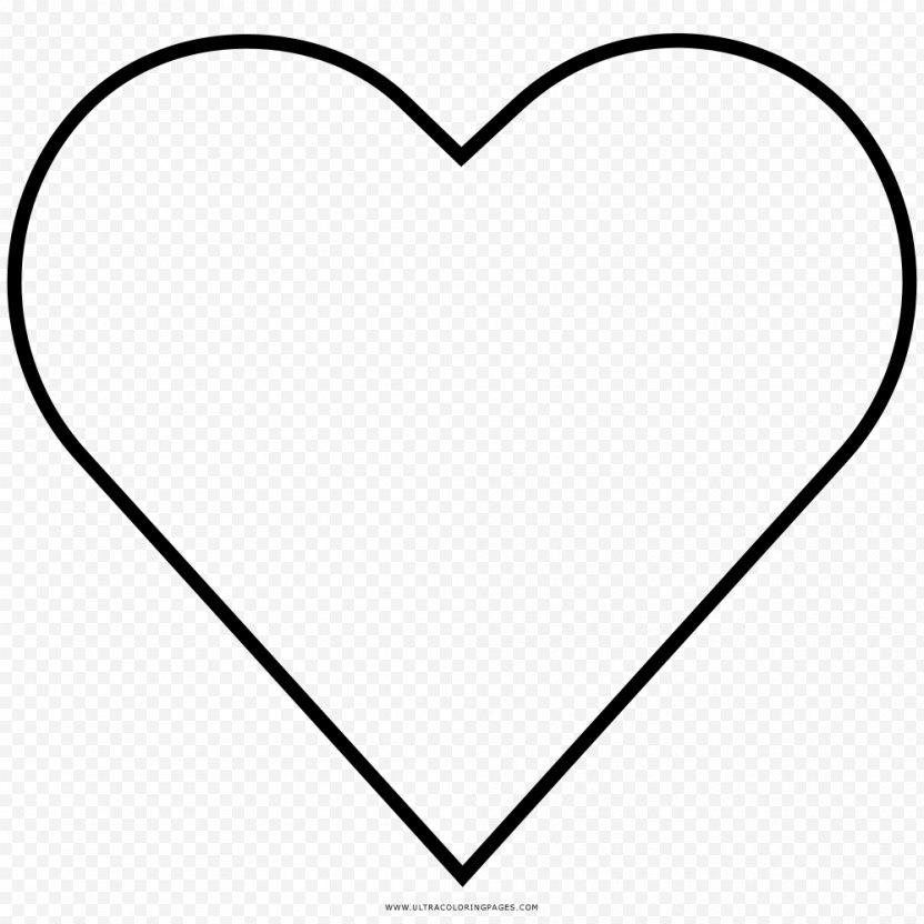 Heart Outline Valentine's Day Clip Art - Frame PNG