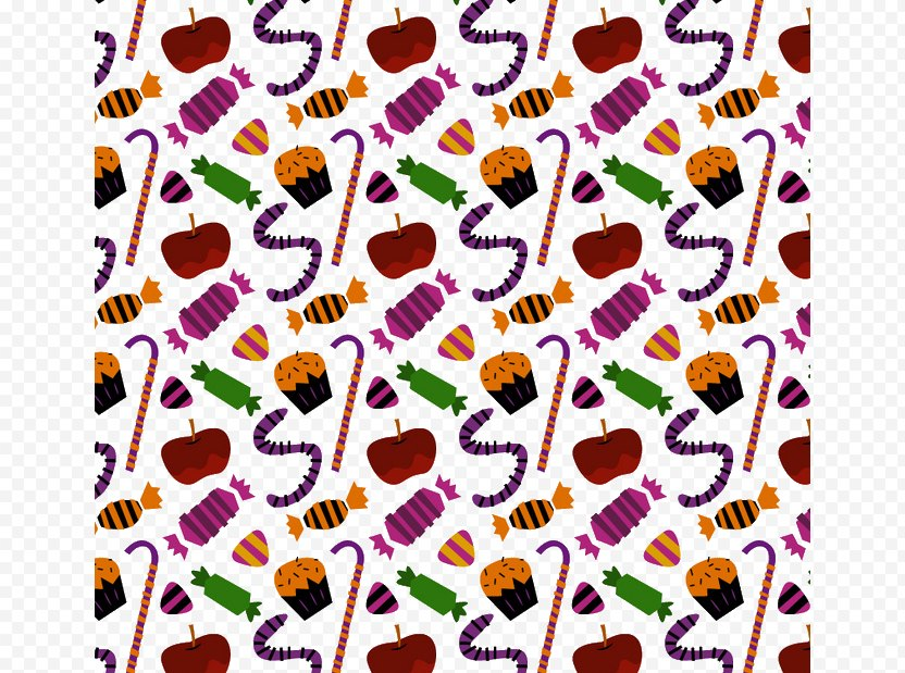 Candy Apple Corn Cane - Halloween PNG